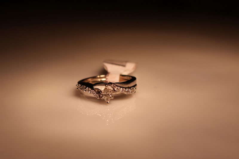 Lady's Diamond Wedding Set 11 Diamonds .36 Carat T.W. 14K White Gold 5.44g