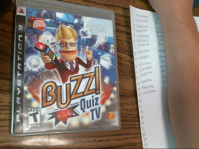 BUZZ! QUIZ TV PS3