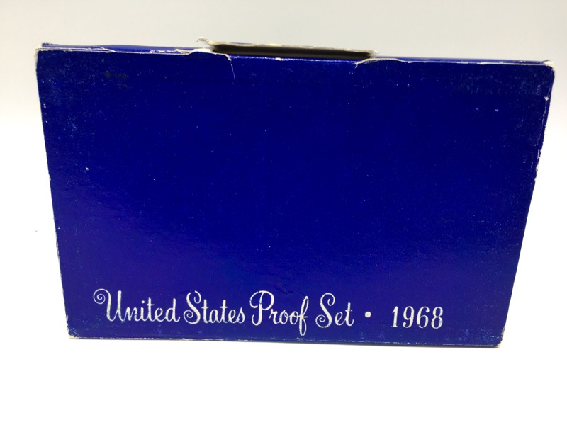 1968 S United States Proof Set - 5 Coins - In Mint Box