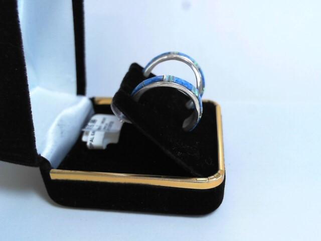 Synthetic Opal Silver-Stone Earrings 925 Silver 1.95dwt
