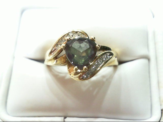 Lady's Diamond Fashion Ring 10 Diamonds .10 Carat T.W. 10K Yellow Gold 3.3g