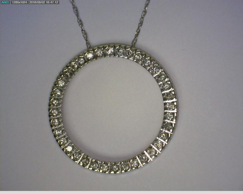 "18"" Diamond Necklace 36 Diamonds .36 Carat T.W. 10K White Gold 1.68dwt"