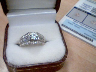 Lady's Diamond Wedding Set 9 Diamonds .62 Carat T.W. 14K White Gold 8.9g