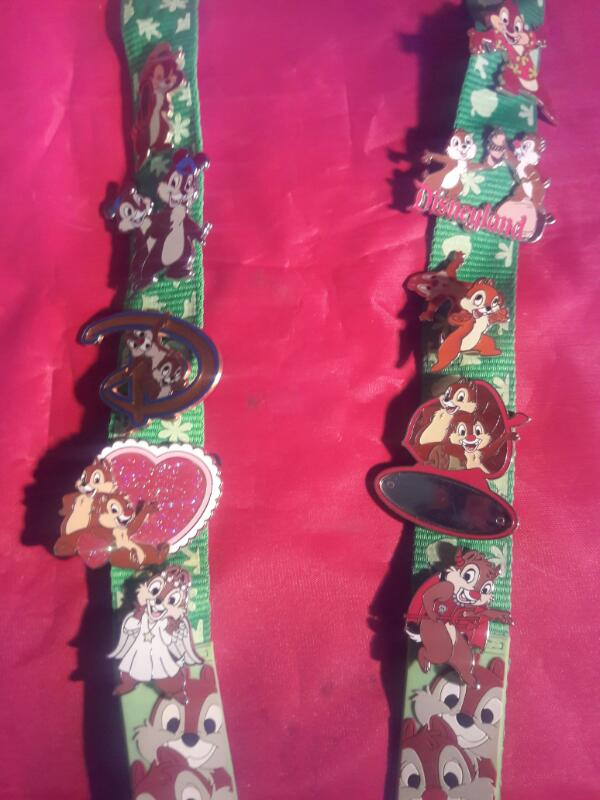 CHIP AND DALE LANYARD W/18 PINS