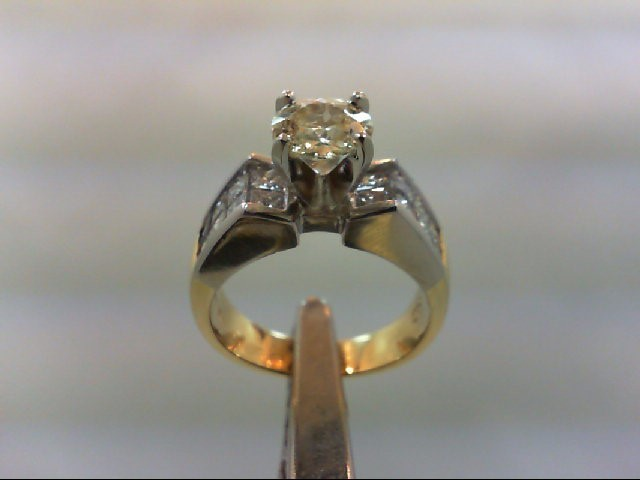 Lady's Diamond Engagement Ring 17 Diamonds 2.50 Carat T.W. 18K/PT 2 Tone Gold