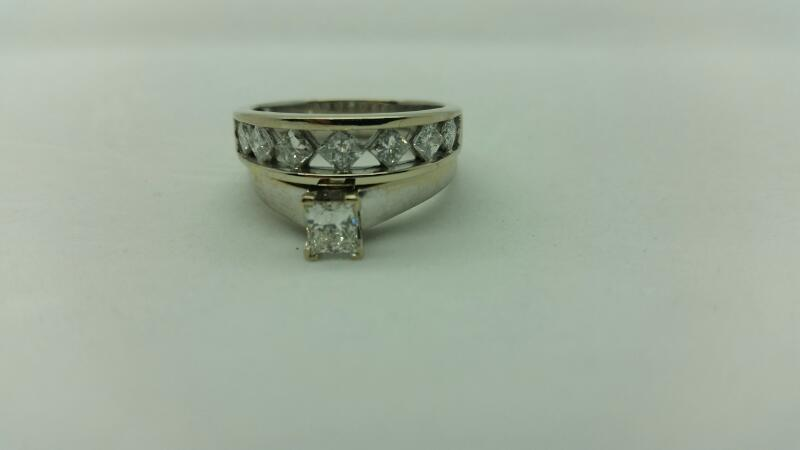 Lady's Diamond Wedding Set 8 Diamonds 1.56 Carat T.W. 14K White Gold 5.6dwt