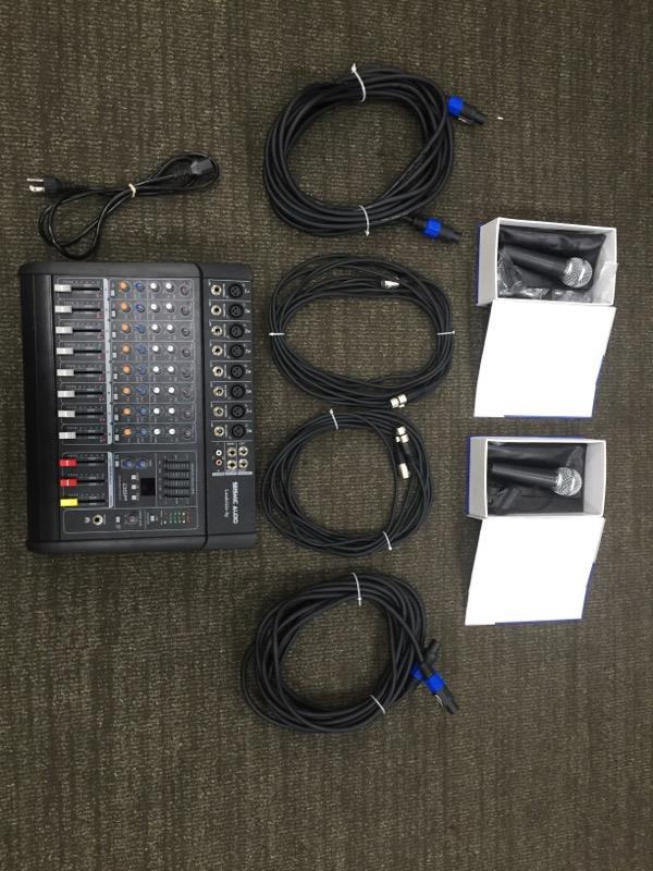 SEISMIC AUDIO DJ Equipment LANDSLIDE-8P