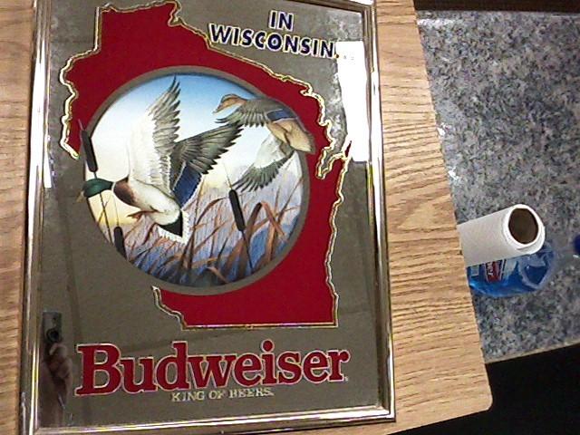 BUDWEISER Entertainment Memorabilia MIRROR
