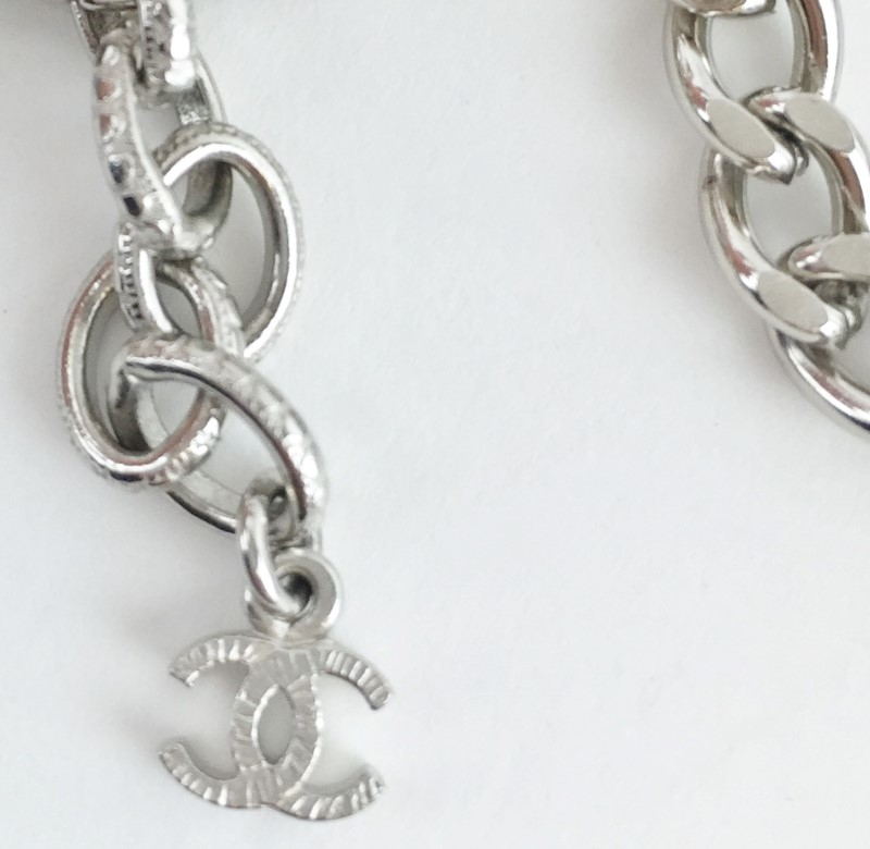 "Chanel 40"" Multi Charm Necklace SS 148g NWT ORIGINAL BOX"