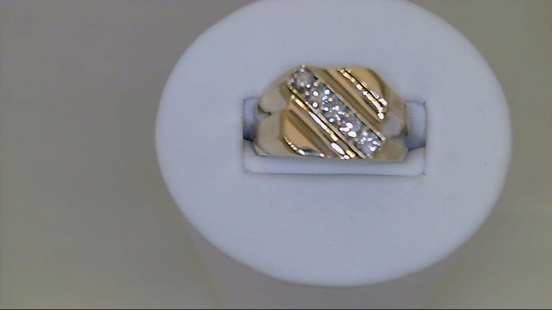Gent's Diamond Fashion Ring 5 Diamonds .50 Carat T.W. 14K Yellow Gold 8.5g
