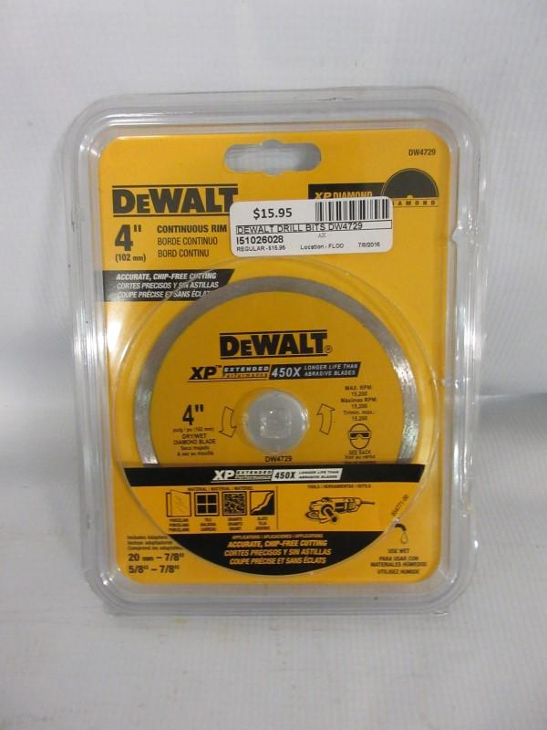 """DEWALT 4"""" Continuous Rim XP Diamond DW4729"""