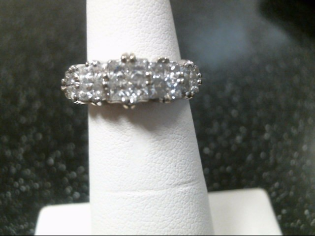 Lady's Diamond Fashion Ring 20 Diamonds 1.68 Carat T.W. 18K White Gold 4.6g