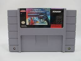 NINTENDO SNES Game LETHAL ENFORCERS