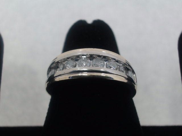 Lady's Diamond Fashion Ring 9 Diamonds .63 Carat T.W. 10K Yellow Gold 4g