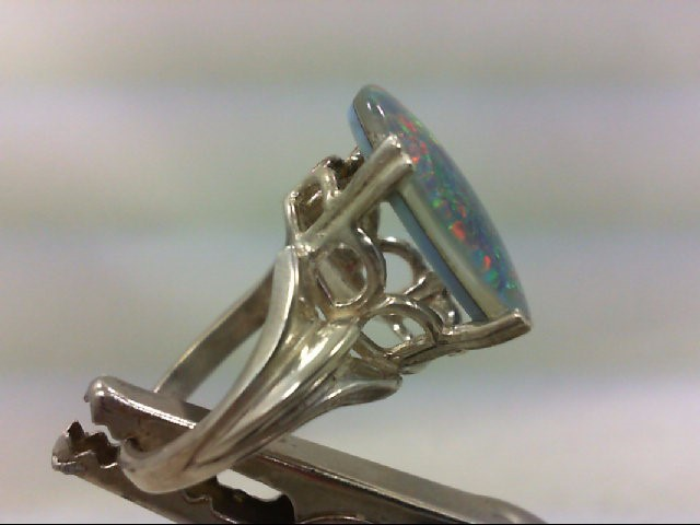 Opal Lady's Silver & Stone Ring 925 Silver 6g