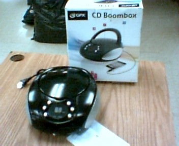 GPX Portable CD Player CD BOOMBOX BC112B