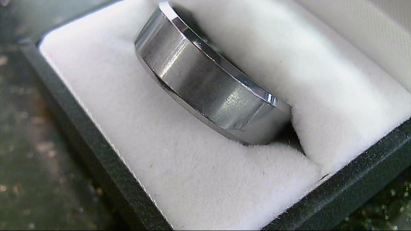 Gent's Ring Silver Tungsten Wedding Band SZ 11.5 18.3g