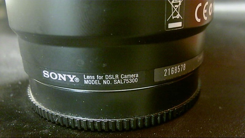 Sony SAL SAL-75300 75-300mm F/4.5-5.6 Lens