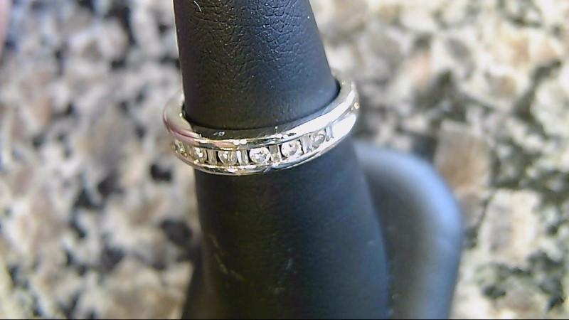 Lady's Diamond Wedding Band 7 Diamonds .21 Carat T.W. 14K White Gold 3.4g