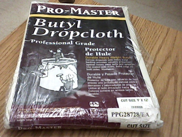 "PROMASTER ""One of a kind"" CANVAS DROP CLOTH 9' X 12'"
