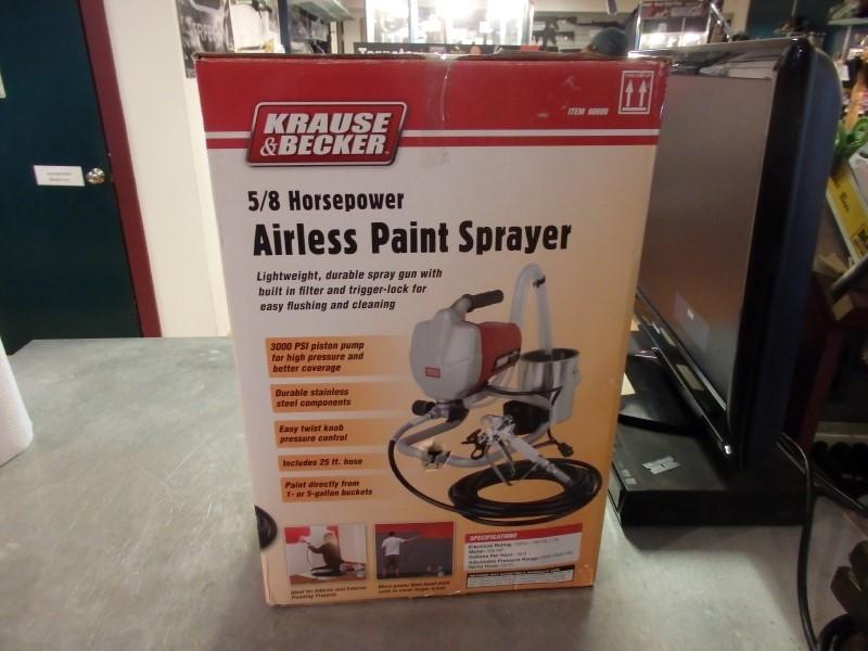 KRAUSE & BECKER Paint/Primer AIRLESS PAINT SPRAYER 60600