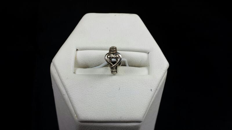 Heart Spacer 925 Silver 1.3g