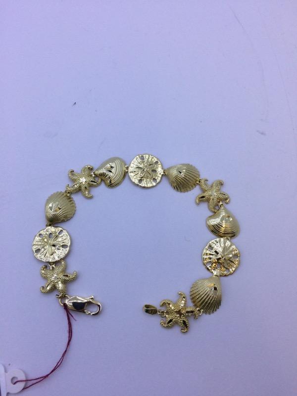 Gold Fashion Bracelet 14K Yellow Gold 15.8g