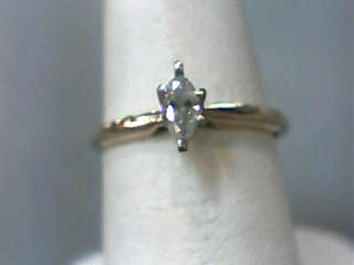 Lady's Diamond Solitaire Ring .20 CT. 10K Yellow Gold 0.9dwt Size:5.5