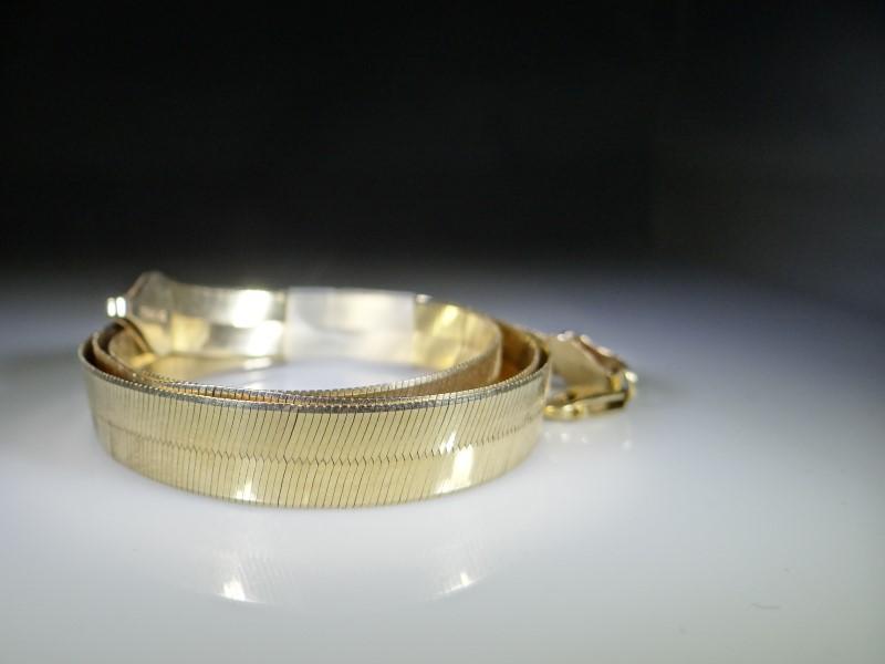 """20"""" Gold Herringbone Chain 10K Yellow Gold 24.73g"""