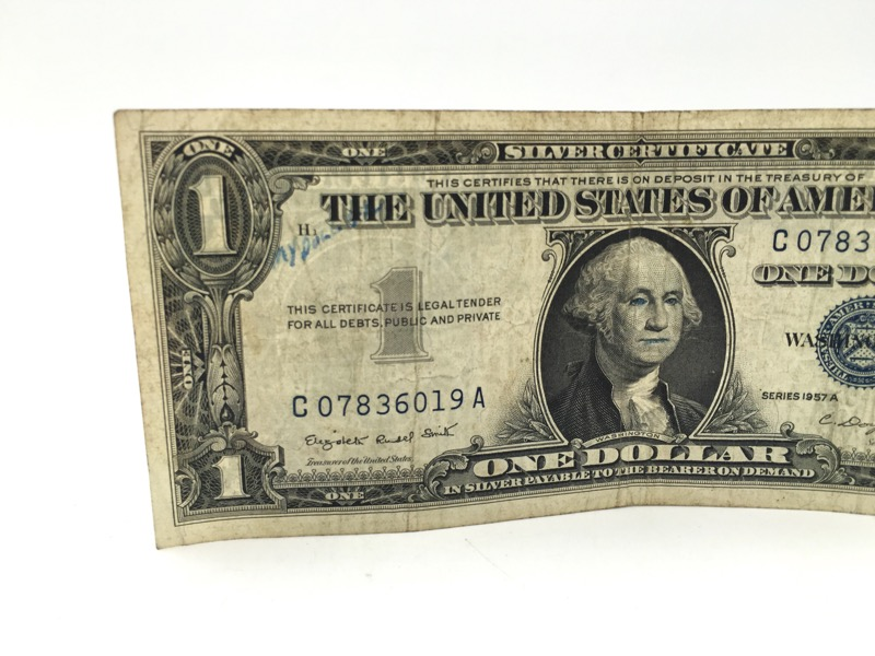 1957-A $1 One Dollar Silver Certificates - LOT OF TWO -
