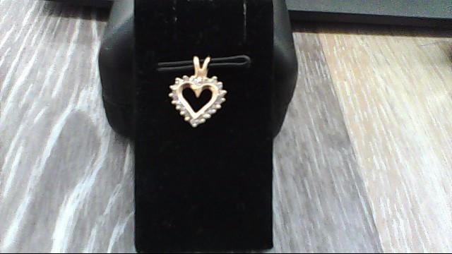 Gold-Multi-Diamond Pendant 20 Diamonds .20 Carat T.W. 10K Yellow Gold 0.6dwt