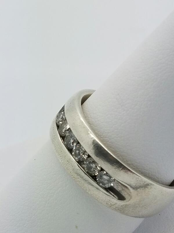 DIAMOND  WEDDING SET M'S STERLING SILVER DIAMOND MANS CLUSTER 10.6/SILVER
