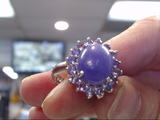 Purple Stone Lady's Silver & Stone Ring 925 Silver 3.95dwt