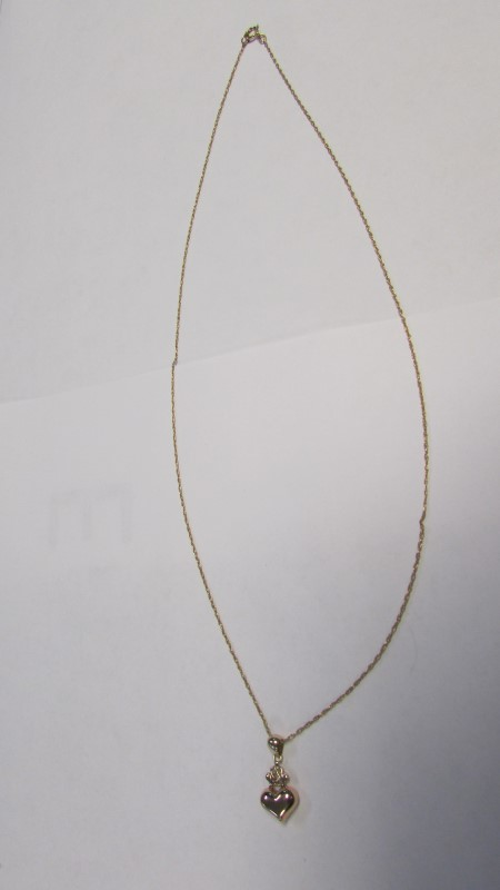 HEART NECKLACE 14K Yellow Gold 1.3g