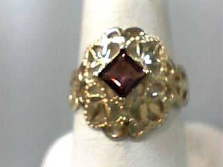 Almandite Garnet Lady's Stone Ring 14K Yellow Gold 1.8dwt