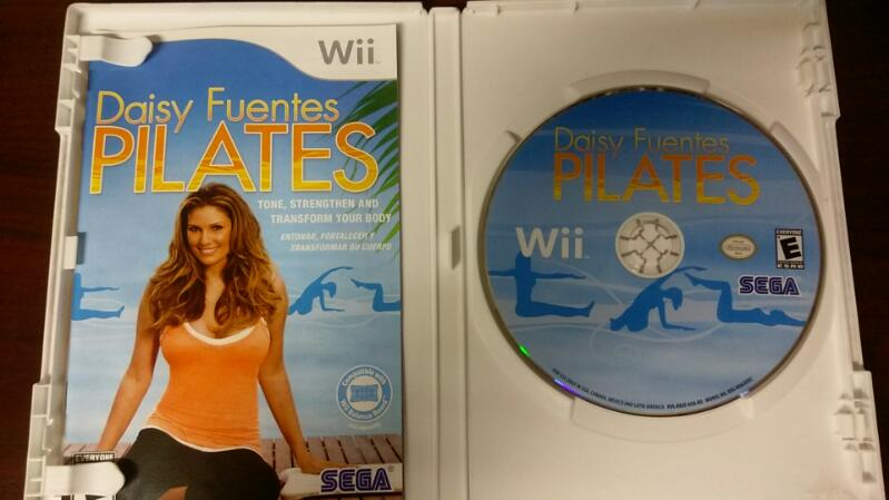 NINTENDO WII DAISY FUENTES PILATES VIDEO GAME