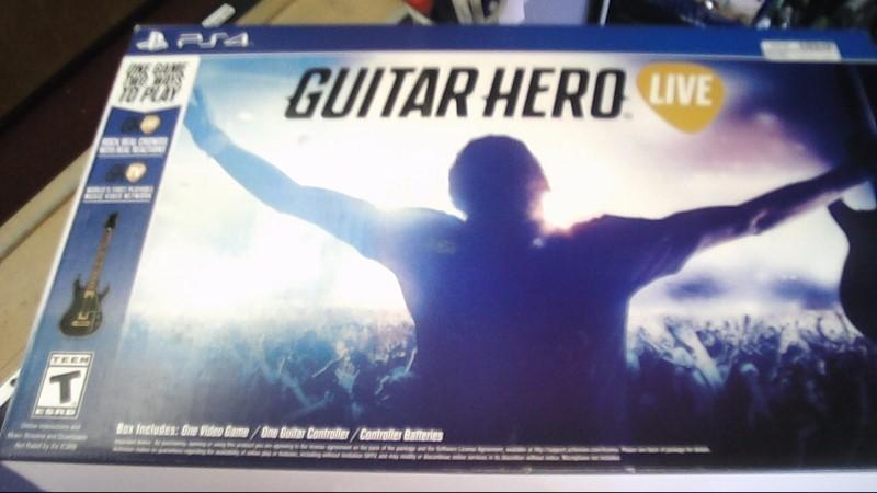 SONY PS4 GUITAR HERO GUITAR- BLACK & GOLD