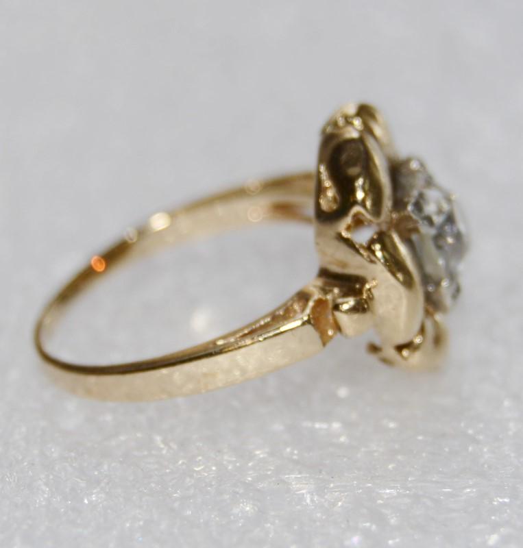 Lady's Diamond Fashion Ring .85 CT. 14K Yellow Gold 3.6g