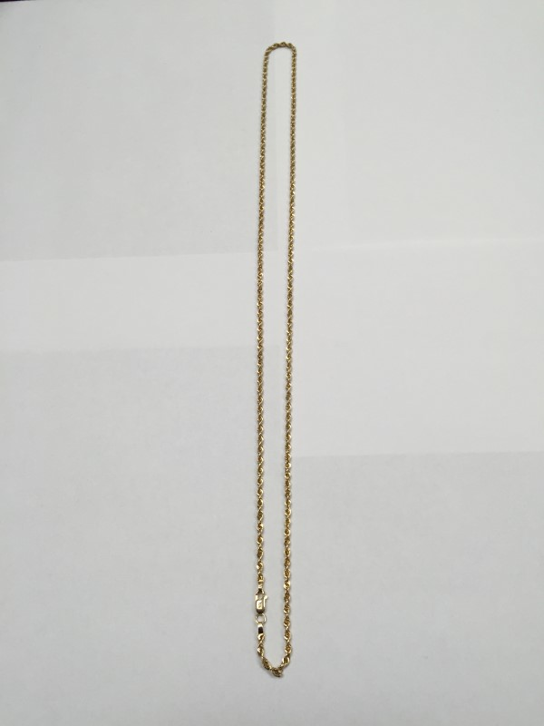 "24"" GOLD ROPE CHAIN 14KYG 7.9g"