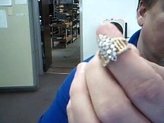 Lady's Diamond Cluster Ring 16 Diamonds .96 Carat T.W. 14K Yellow Gold 6.25g