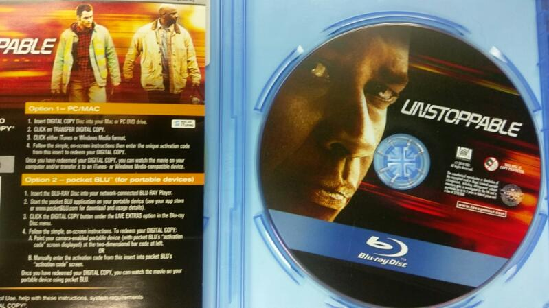UNSTOPPABLE BLUE RAY MOVIE