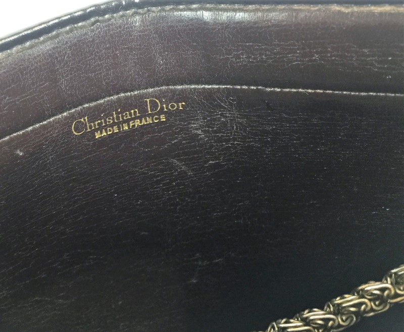 CHRISTIAN DIOR CANVAS SHOULDER BAG CLUTCH