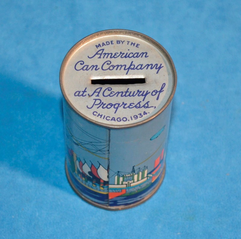AMERICAN CAN COMPANY Collectible Plate/Figurine AT A CENTURY OF PROGRESS