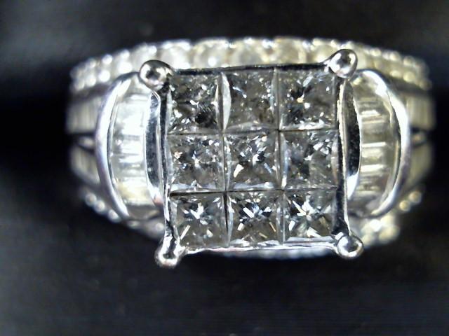 Lady's Diamond Wedding Set 113 Diamonds 4.02 Carat T.W. 10K White Gold 7.3g