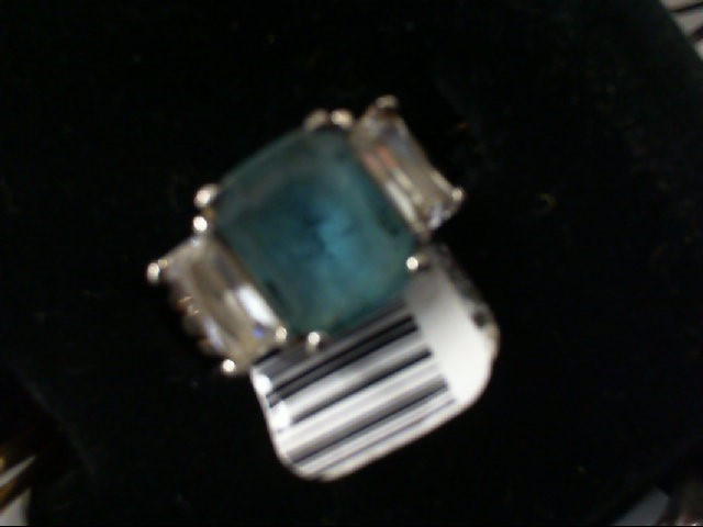 Blue Stone Lady's Silver & Stone Ring 925 Silver 4.7g