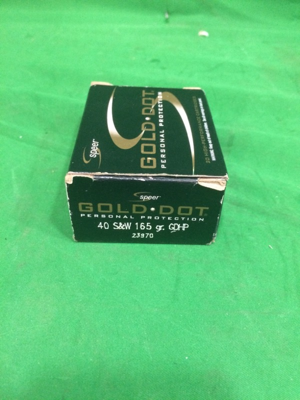 SPEER BULLETS Ammunition GOLD DOT .40 S&W 165 GR (23970)