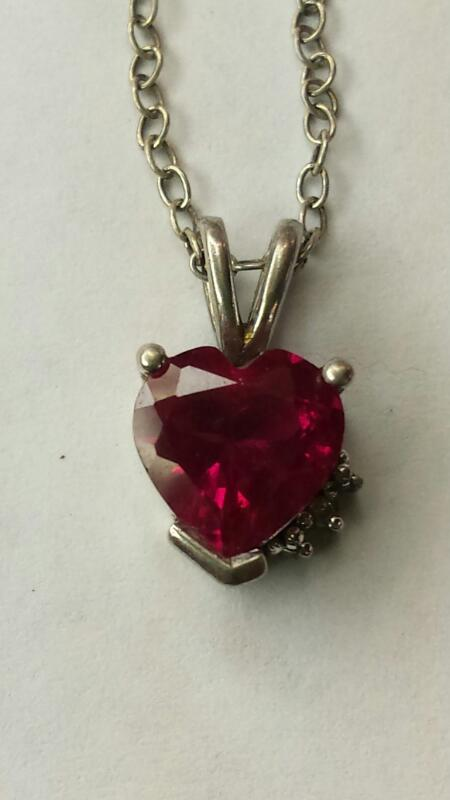 Necklace READ HEART 925 Silver 1.27dwt