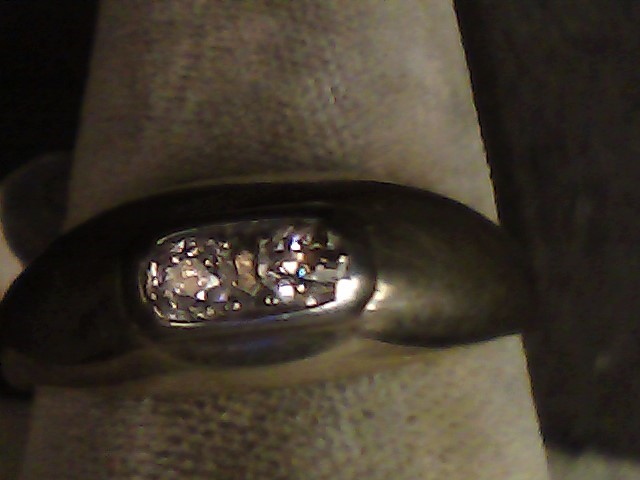 Gent's Diamond Fashion Ring 2 Diamonds .14 Carat T.W. 10K Yellow Gold 4dwt