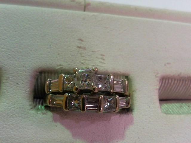 Lady's Diamond Wedding Set 13 Diamonds 1.75 Carat T.W. 14K White Gold 7.4g