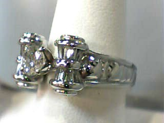 Lady's Diamond Fashion Ring 25 Diamonds 1.55 Carat T.W. 14K White Gold 5.9dwt